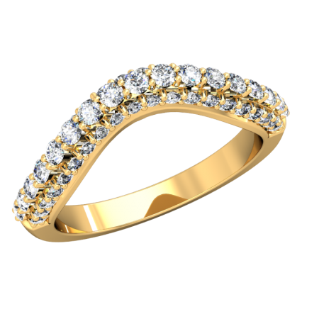 Loving Embrace (Curved Wedding Bands) - yg4_15.png - brand name designer jewellery in Stouffville, Ontario