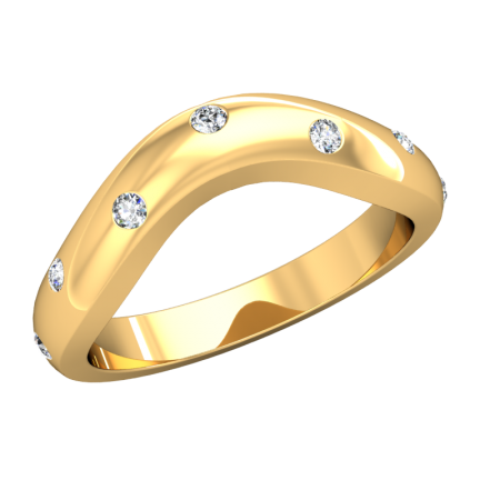 Loving Embrace (Curved Wedding Bands) - yg4_3_11.png - brand name designer jewellery in Stouffville, Ontario