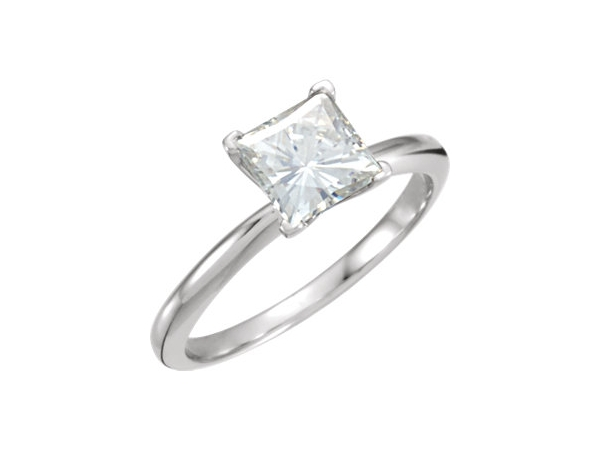 14KW PRIN 0.70CT SI1 E DIAMOND SOLITAIRE ENGAGEMENT RING  LASER INSCRIBED R1532