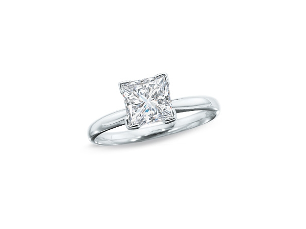14KW PRIN 0.52CT SI2 H DIAMOND SOLITAIRE ENGAGEMENT RING