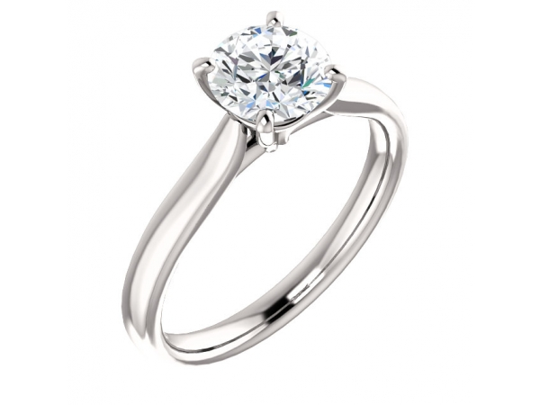 14KW RBC 1.15CT SI1 J DIAMOND SOLITAIRE ENGAGEMENT RING