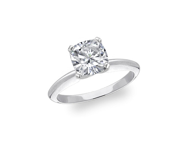 14KW CUSHION CUT 0.70CT VS2 H DIAMOND ENGAGEMENT RING REPORT #1219510902