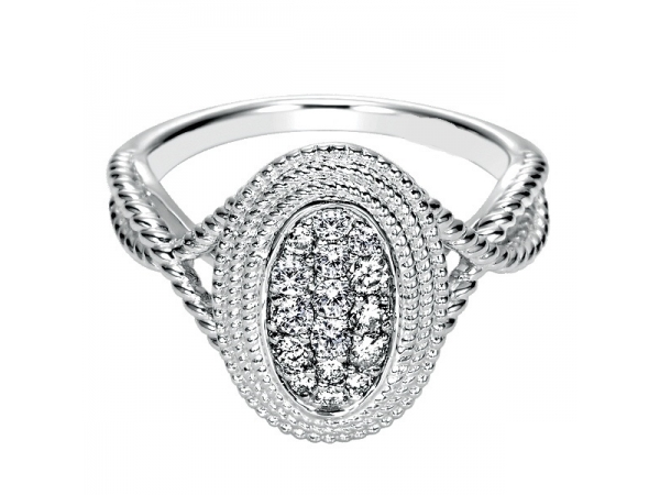 14KW 0.29TW DIAMOND ENGAGEMENT DESIGN RING OVAL