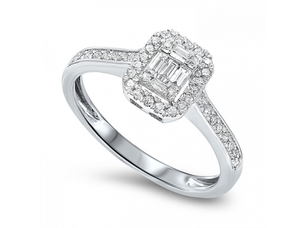 14KW 0.36TW ENGAGEMENT RING
