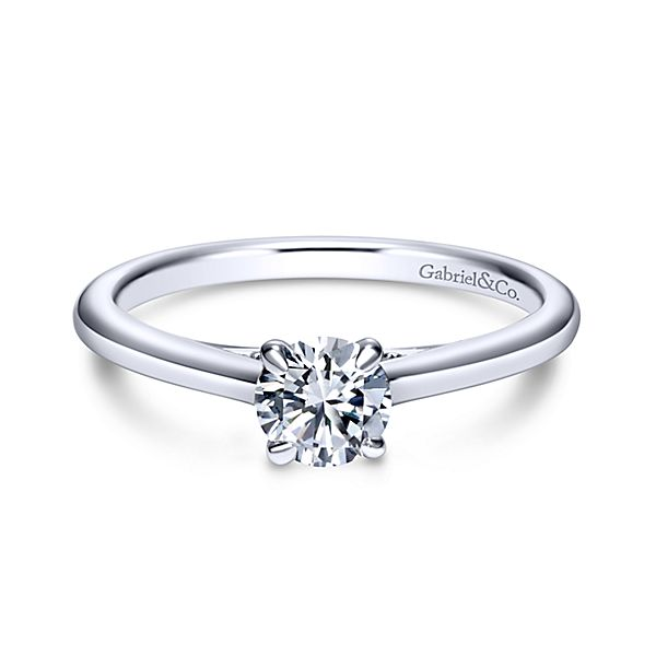 14KW 0.25CT SI2 G DIAMOND SOLITAIRE ENGAGEMENT RING SERIAL #S791366