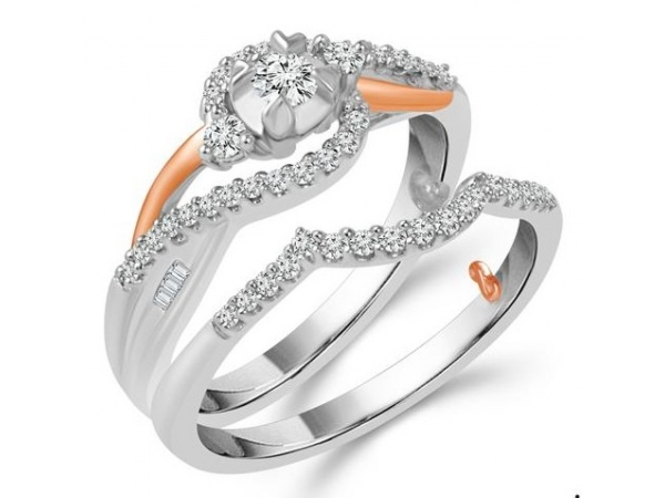 10KW/R 0.40TW DIAMOND ENGAGEMENT RING AND BAND