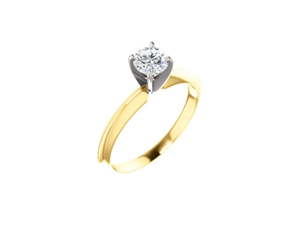 14KY/W RBC 0.34CT I1 G DIAMOND SOLITAIRE ENGAGEMENT RING