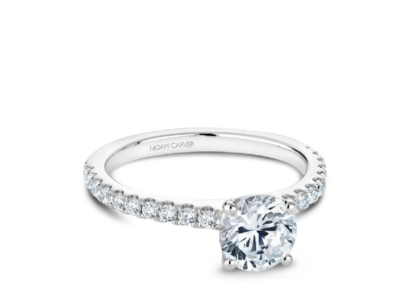 Noam Carver Engagement Ring 20=0.31TW *FITS 1CT CENTRE STONE NOT INCLUDED