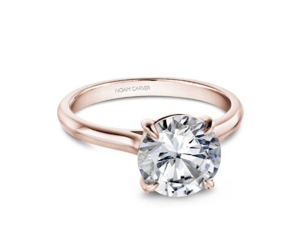 NOAM CARVER CLASSIC SOLITAIRE DIAMOND ENGAGEMENT RING  (FITS 1.00CT CENTRE STONE NOT INCLUDED)