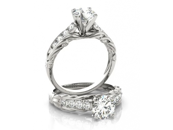PLAT MOUNT 8=0.14TW VS, G-H DIAMOND ENGAGEMENT RING (CENTRE STONE NOT INCLUDED)